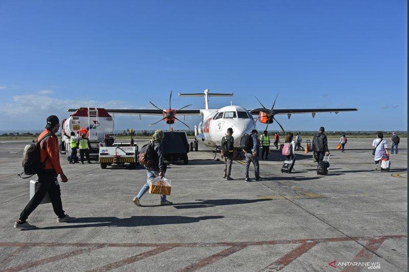 Jumlah penumpang di Bandara Lombok melonjak hingga 3 kali lipat