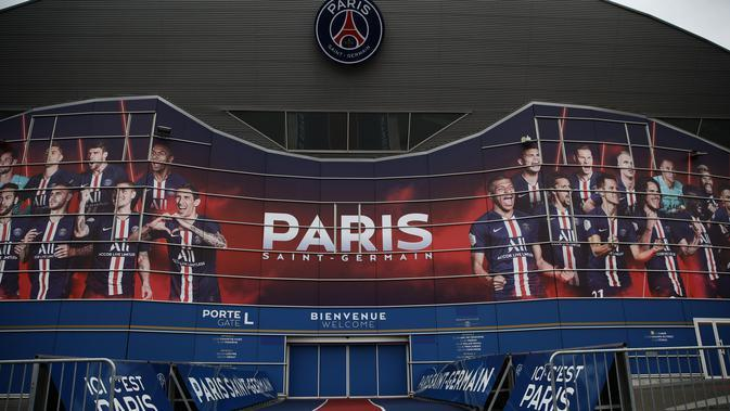 Stadion Parc des Prices, markas Paris Saint-Germain (PSG). (AP Photo/Thibault Camus)