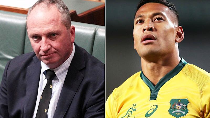 Barnaby Joyce caused a stir with his comments about Israel Folau.