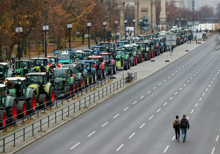 In November, farmers staged a tractors protest in Berlin against government plans to phase out glyphosate pesticides