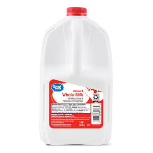 Great Value Whole Milk, 1 Gallon, 128 Fl. Oz.