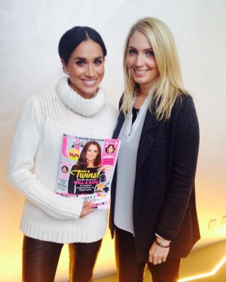 Meghan Markle poses with U Magazine deputy editor with Kate Middleton on cover