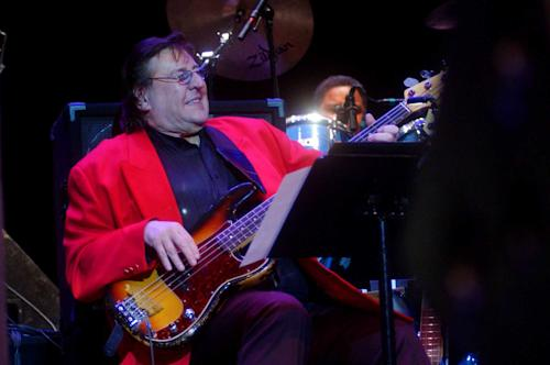 In this April 16, 2003 photo, Bob Babbitt, of the Funk Brothers, plays bass during the Funk Brothers performance at Ohio Theatre in Cleveland's Playhouse Square district. Motown Museum chief curator Lina Stephens says Babbitt died Monday, July 16, 2012, in Nashville, Tenn. He was 74. (AP Photo/Luke Palmisano)