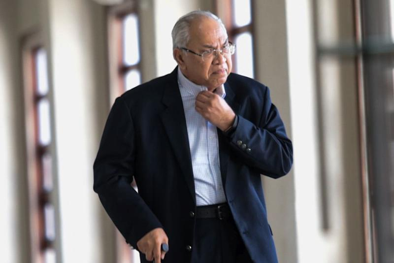 Ex-SRC International director Datuk Suboh Md Yassin is pictured at the Kuala Lumpur Court Complex June 11, 2019. — Picture by Ahmad Zamzahuri