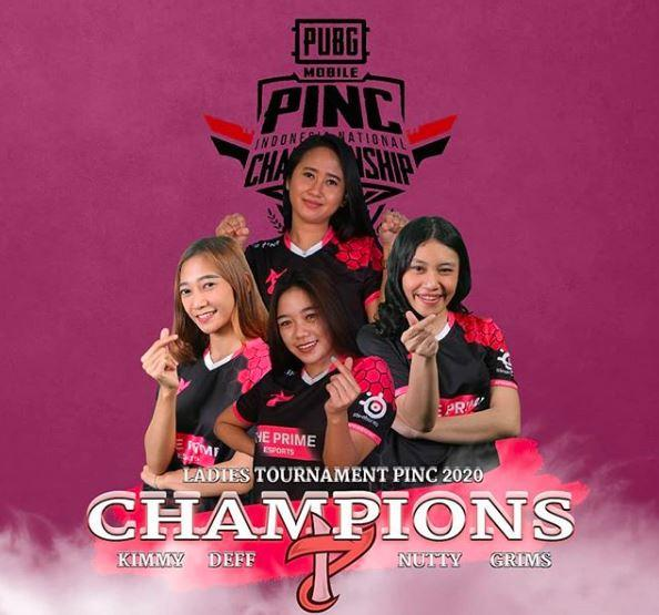 The Prime Snaky jadi pemenang PINC Ladies 2020. | Sumber: Instagram