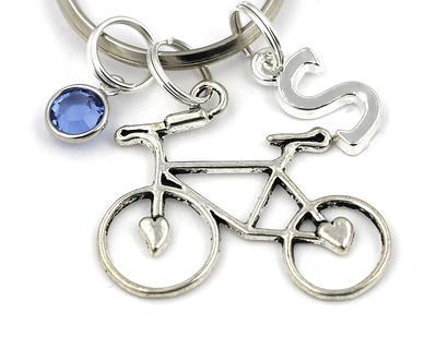 Bicycle Accessory Cyclist Gift Idea Personalized Charm Keychain Bike Charm Keychain Bike Key Chain Bicycle Keychain Cyclist Lover
