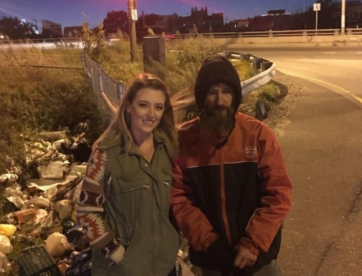 Kate McClure and Johnny Bobbitt Jr (Go Fund Me)