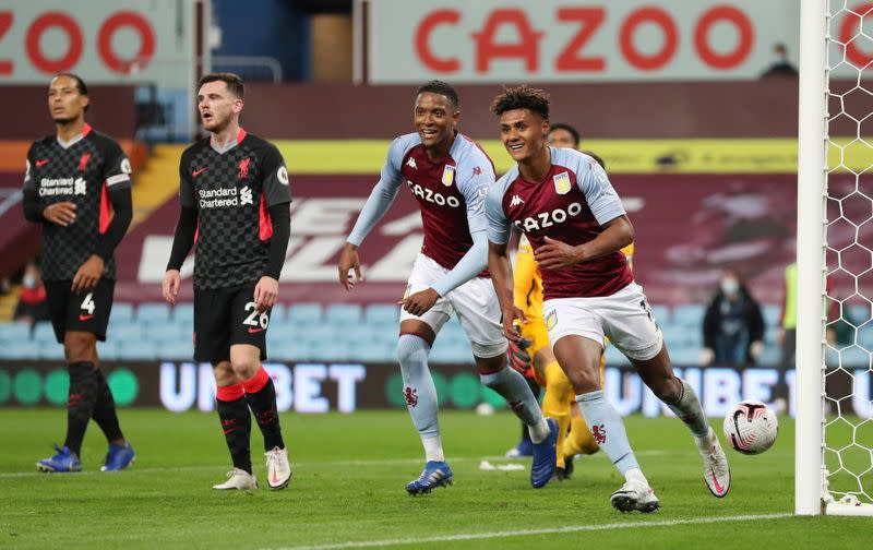 Watkins hat-trick leads Villa's 7-2 rout of champions Liverpool