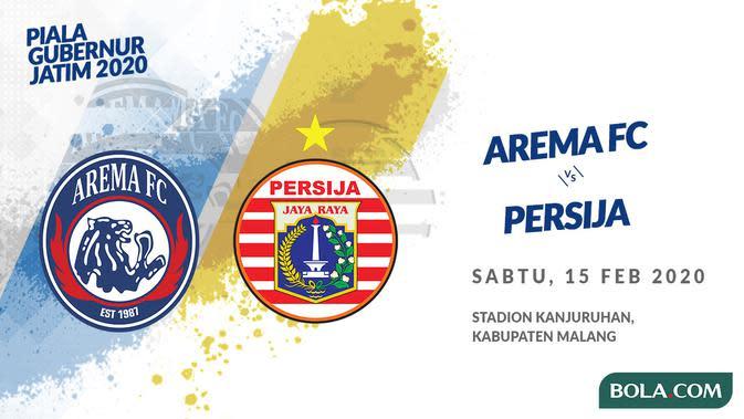 Link Live Streaming Arema FC vs Persija di Piala Gubernur Jatim