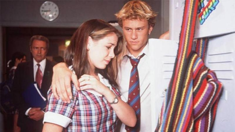 Kate played Sally Fletcher on Home and Away - pictured here in a scene with late co-star Heath Ledger. Source: Channel 7
