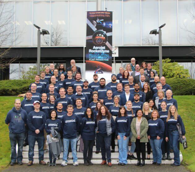 Aerojet Rocketdyne Orion team in Redmond