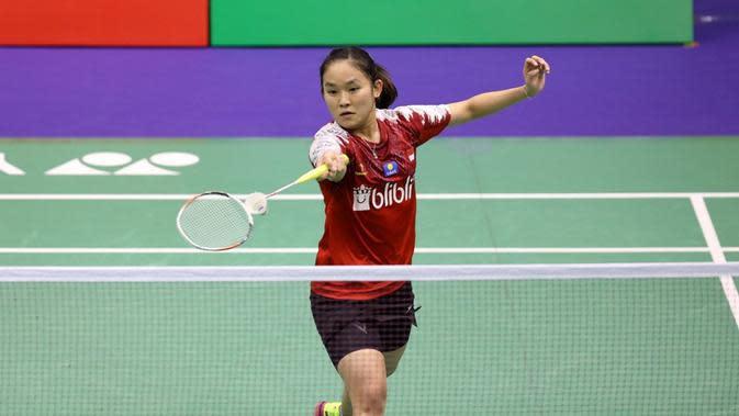 Tunggal putri Indonesia, Ruselli Hartawan, saat tampil di ajang Hong Kong Terbuka 2019. (dok. PBSI)