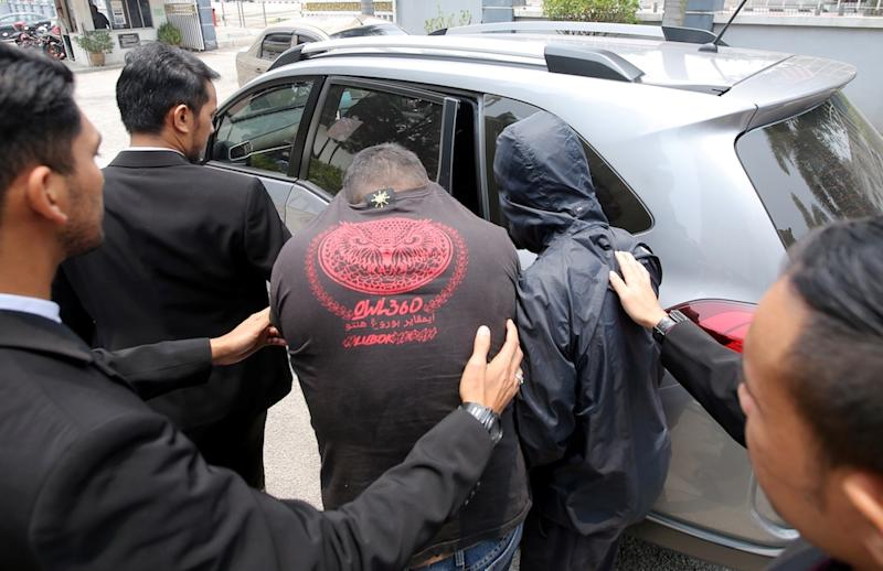 A lower Shariah Court judge and a policeman have been remanded for five days in connection with a bribery case at the Sessions Court in Ipoh September 11, 2019. — Picture by Farhan Najib