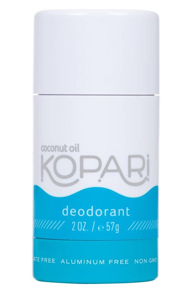 "<p>This <a href=""https://www.popsugar.com/buy/Kopari-Coconut-Deodorant-406929?p_name=Kopari%20Coconut%20Deodorant&retailer=shop.nordstrom.com&pid=406929&price=14&evar1=bella%3Aus&evar9=45698726&evar98=https%3A%2F%2Fwww.popsugar.com%2Fbeauty%2Fphoto-gallery%2F45698726%2Fimage%2F45698813%2FKopari-Coconut-Deodorant&list1=shopping%2Cnatural%20beauty%2Cdeodorant%2Cbody%20care%2Cnatural%20deodorant%2Cskin%20care&prop13=api&pdata=1"" rel=""nofollow"" data-shoppable-link=""1"" target=""_blank"" class=""ga-track"" data-ga-category=""Related"" data-ga-label=""https://shop.nordstrom.com/s/kopari-coconut-deodorant/4828339?origin=keywordsearch-personalizedsort&amp;breadcrumb=Home%2FAll%20Results&amp;color=none"" data-ga-action=""In-Line Links"">Kopari Coconut Deodorant</a> ($14) is the pick everyone's raving about because it's nonirritating and smells great.</p>"