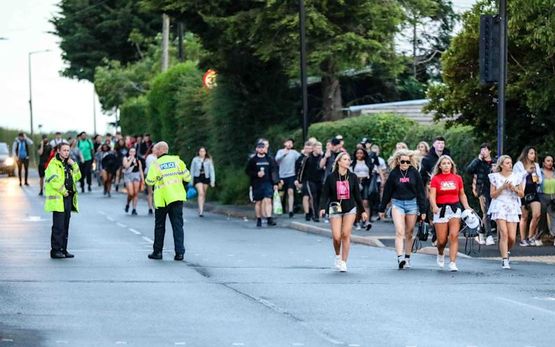 Police have been struggling to deal with unlicensed music events