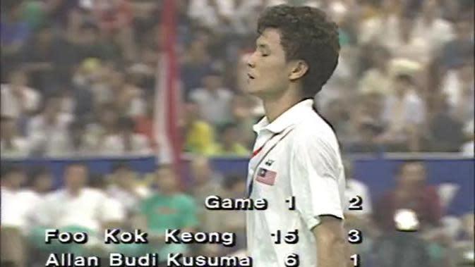 VIDEO: Flashback Bulutangkis Kekalahan Alan Budikusuma Melawan Foo Kok Keong Pada Final Thomas Cup 1992