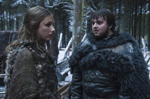 Gilly (Hannah Murray) and Samwell Tarly (John Bradley) in 'Game of Thrones' Season 2 -- Helen Sloan/HBO