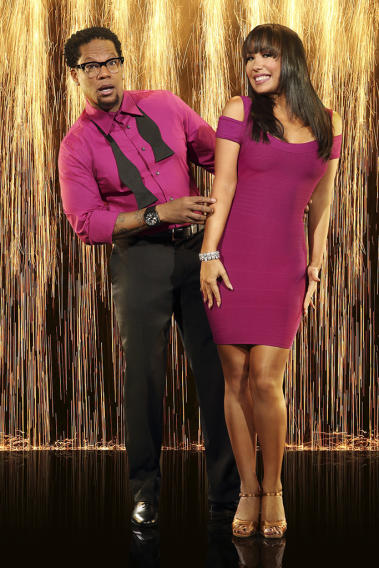 """Dancing with the Stars"" Season 16 D.L. HUGHLEY, CHERYL BURKE"