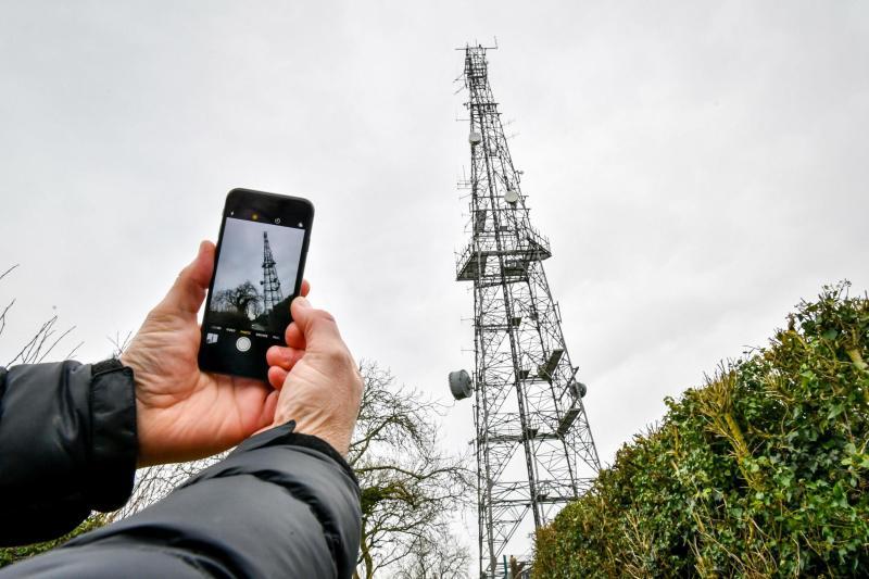 A telecoms mast near Dundry, Somerset (PA)