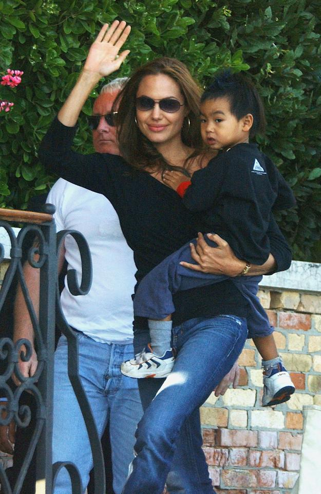 <p>Angelina brought Maddox along with her to the Venice Film Festival in 2004. </p>
