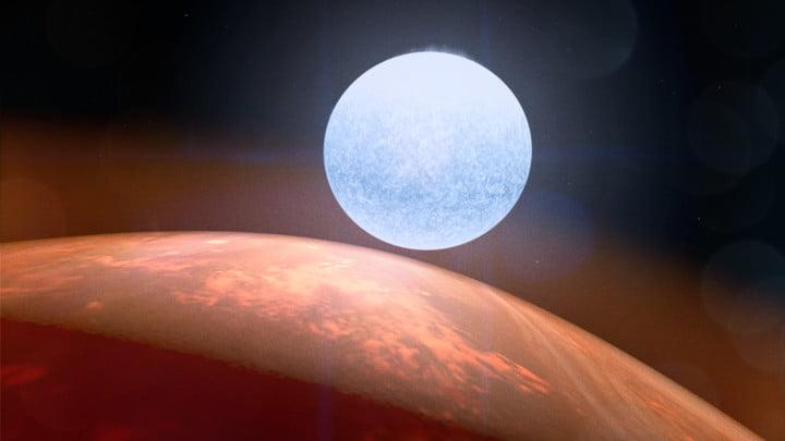 This illustration shows how planet KELT-9 b sees its host star