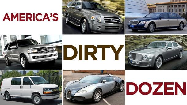 The meanest cars for the environment in 2012