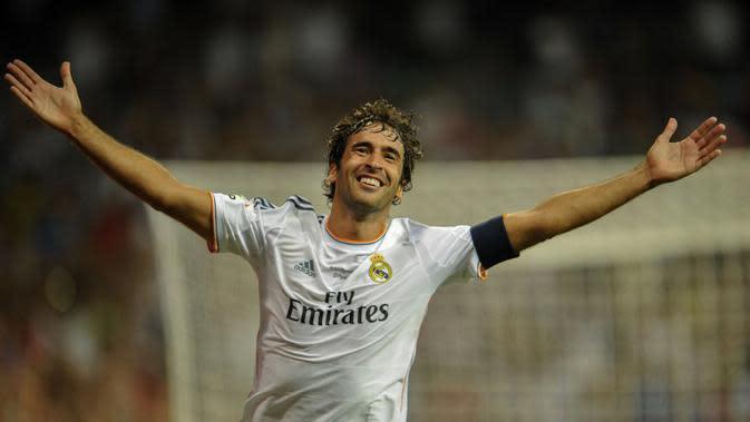 Legenda Real Madrid Raul Gonzalez (PEDRO ARMESTRE / AFP)