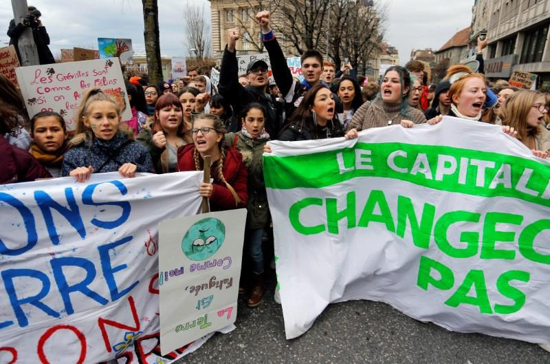 Fridays For Future climate march in Lausanne