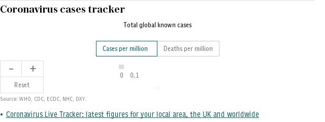 Coronavirus live map cases tracker
