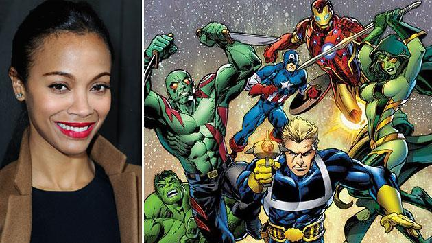 "Zoe Saldana Goes Green For Marvel's ""Guardians Of The Galaxy'"