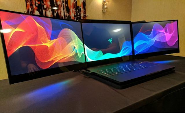 Razer Project Valerie concept laptop.