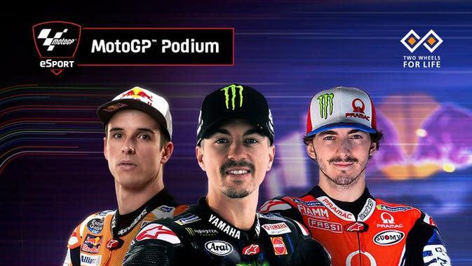 Maverick Vinales memenangi MotoGP Virtual Race Jilid III di Sirkuit Jerez, Spanyol, Minggu (3/5/2020). (Twitter/MotoGP)