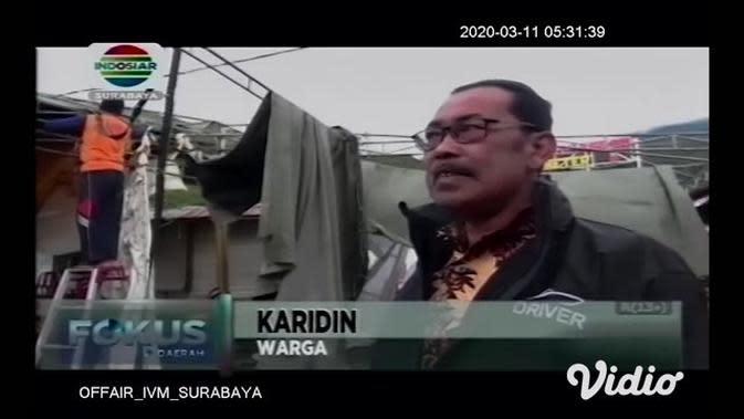 VIDEO: Angin Kencang Menerjang Telaga Sarangan, Fasilitas Wisata Rusak