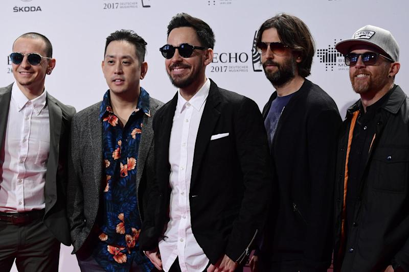 Linkin Park arriving for the 2017 Echo Music Awards in Berlin, on April 6, (AFP/Getty Images)