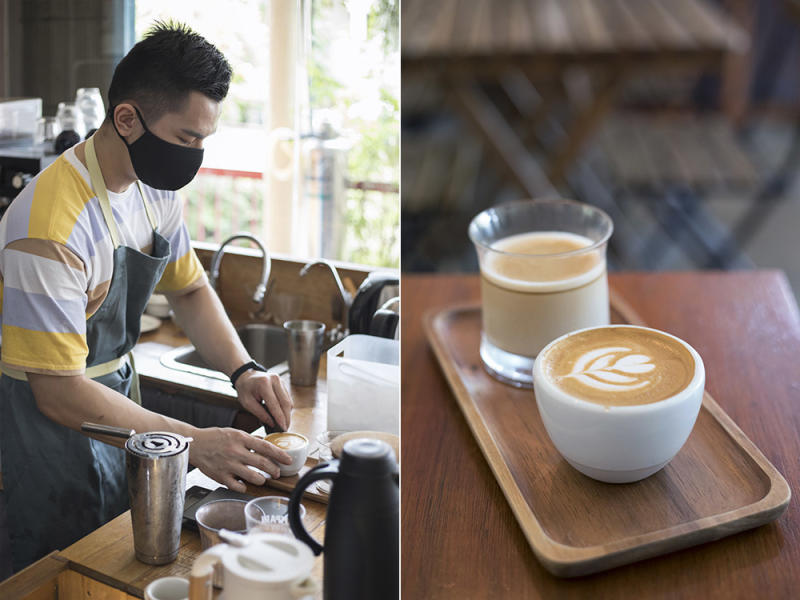 Barista Michael Woon mans the coffee counter; ask him to recommend the right cuppa for you.