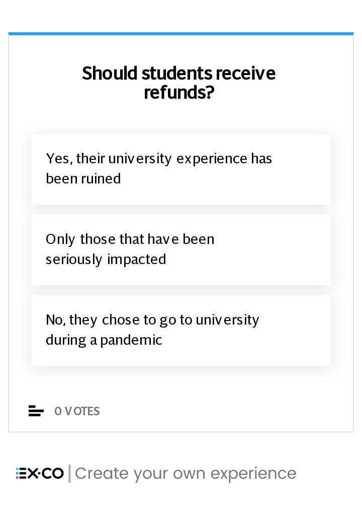Should students receive university refunds