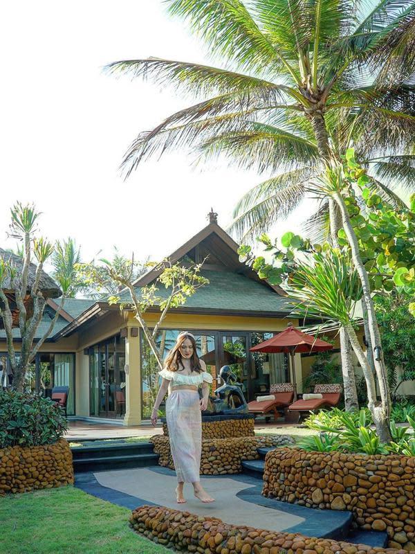 Potret Liburan Keluarga Shandy Aulia di Bali, Rayakan Ultah Suami. (Sumber: Instagram/shandyaulia)