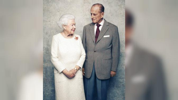 Foto Ulang Tahun Pernikahan ke-70 Ratu Elizabeth II dan Pangeran Philip (AP/Matt Holyoak)