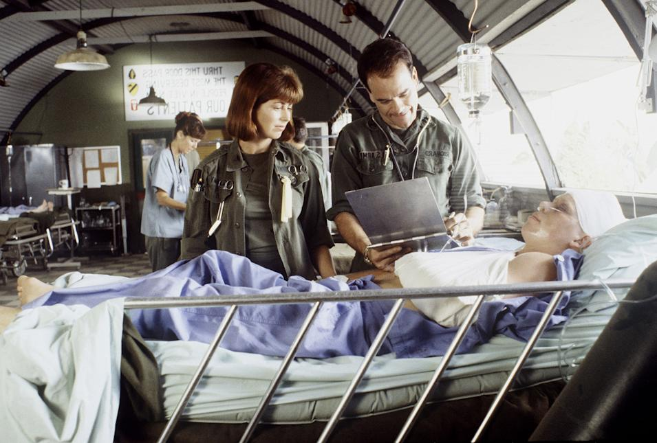 """China Beach"" DANA DELANY, ROBERT PICARDO"