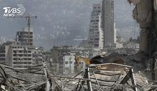 只剩瓦礫和黃土! 貝魯特爆炸現場面目全非