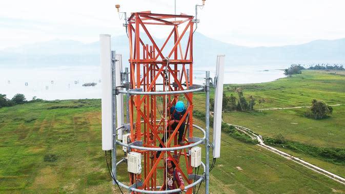 Tower Telkomsel yang dibangun di berbagai daerah di Sumsel guna memberikan kualitas jaringan internet berkualitas hingga ke pelosok (Dok. Humas Telkomsel Sumbagsel / Nefri Inge)