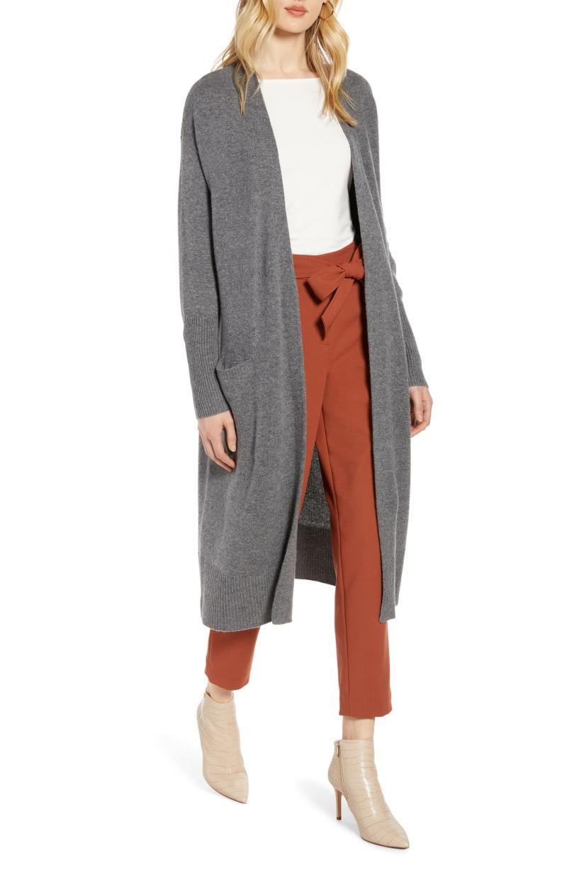 Halogen Wool & Cashmere Long Cardigan. Image via Nordstrom.
