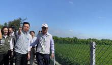 陳吉仲新竹視察農田停灌狀況 (圖)
