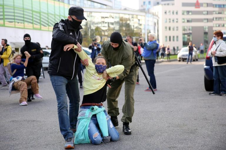 Belarus police detain hundreds at women's protest: AFP