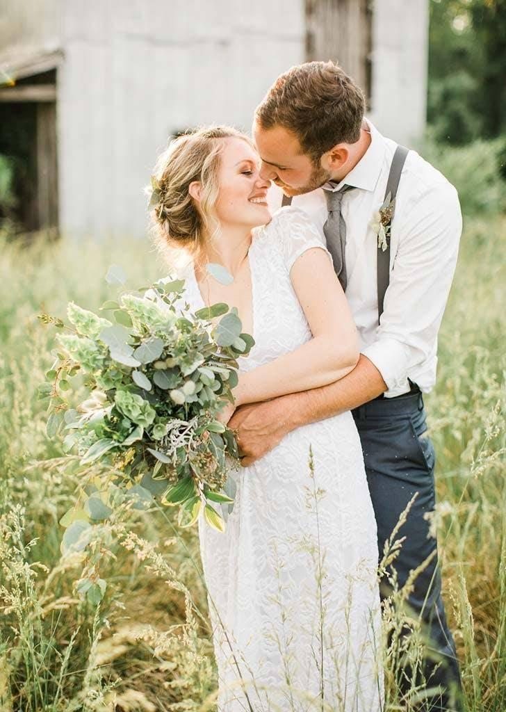 The bride and groom didn't want to go into debt planning their wedding (Danielle Riley Photography)