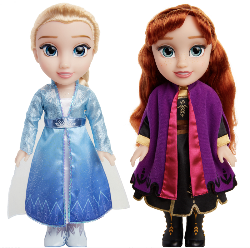 Disney Frozen II Princess Anna and Elsa Sister Interactive Feature Doll 2 pack. (Photo: Walmart)