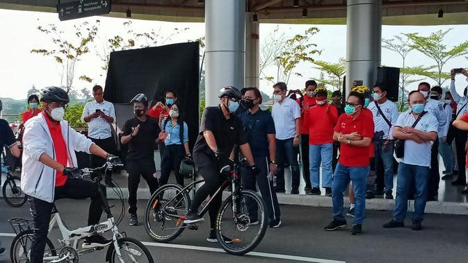 Kampanye hidup sehat dengan bersepeda dan menggunakan transportasi publik (Istimewa)