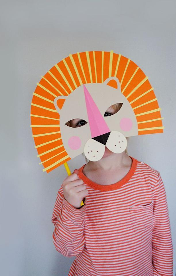 "<p>Your little one will  truly look like the king of the jungle with the most ferocious DIY disguise. </p><p><strong>Get the tutorial at <a href=""http://mermagblog.com/diy-paper-lion-mask-for-national-geo-kids/"" target=""_blank"">Mer Mag</a>. </strong></p><p><strong><strong><a class=""body-btn-link"" href=""https://www.amazon.com/Avery-Permanent-Ounces-White-Dries/dp/B000BQPA8U/?tag=syn-yahoo-20&ascsubtag=%5Bartid%7C10050.g.3480%5Bsrc%7Cyahoo-us"" target=""_blank"">SHOP GLUE STICKS</a></strong><br></strong></p>"