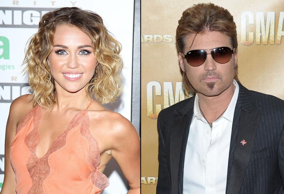 Miley Cyrus, Billy Ray Cyrus, Actors with Musician Parents