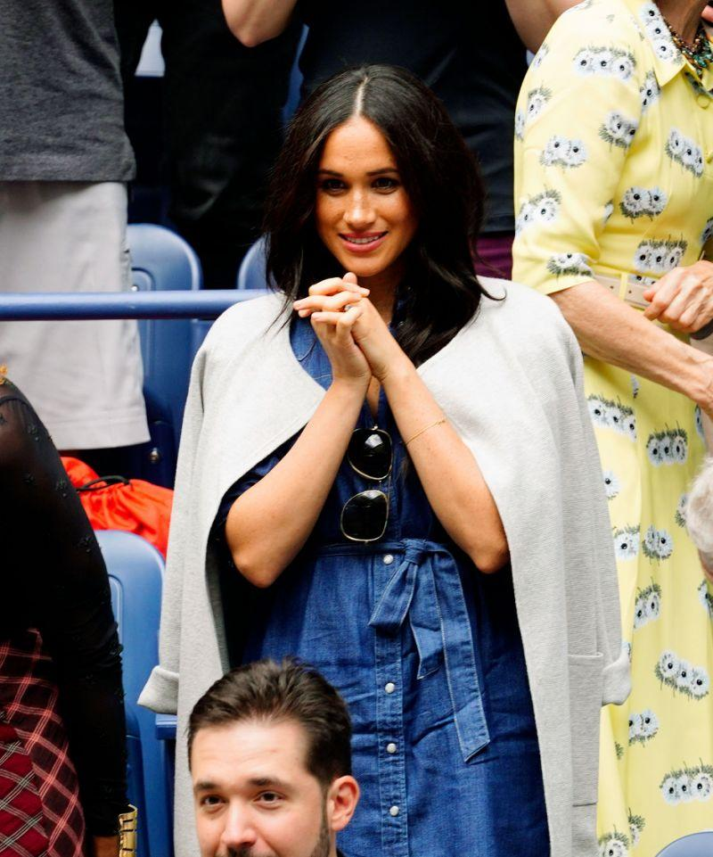 Meghan sat in the players' box to watch Serena compete in the US Open final. Photo: Getty Images